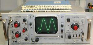 Tektronix R561B + 3A6 + 2B67 oscilloscopio a valvole vintage anni '60