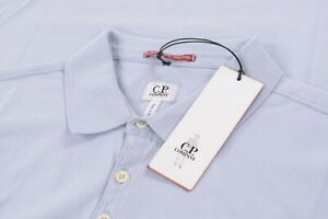 C.P. Company NWT Polo Shirt Short Sleeve Size 2XL In Light Blue Mako Cotton CP