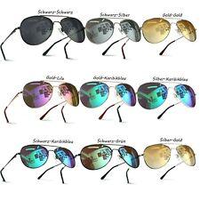 Premium Hochwertige Pilotenbrille verspiegelt Fliegerbrille UV400 Sonnenbrille !