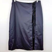 [ VERONIKA MAINE ] Womens Tie Detail Skirt | Size AU 14