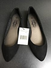 Faux Suede Point Toe Flats, By Charles Albert, Sz 6, New W Tag