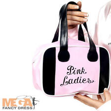 Grease Pink Lady Bowling Bag Ladies Fancy Dress 50s Retro Film Costume Accessory