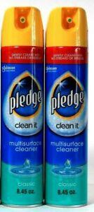 2 Count Pledge 8.45 Oz Clean It Classic Gentle No Streaks Multi Surface Cleaner