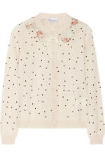 RED VALENTINO POLKA DOT WOOL WOMEN BUTTON DOWN CARDIGAN MEDIUM