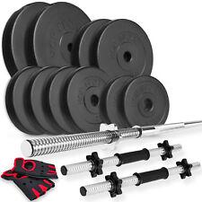 Hantel Set 52kg Langhantel Hantelstange Kunststoff Gewichte Hantelscheiben