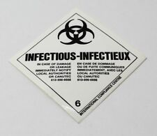 "Infectious Substance Sticker 2"" X 2"" Adhesive Back #6 Zombie Stickers"