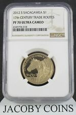 2012 S Sacagawea $1 17th Century Trade Routes Ngc Pf70 Ultra Cameo Brown Label