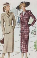 1940's VTG McCall Sewing Pattern 7211 Two-Piece Suit Size 14 Bust 32