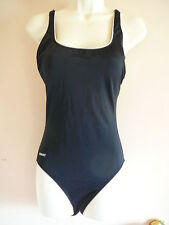 Speedo Swimsuit Size 8 One Piece Black Solid T Straps