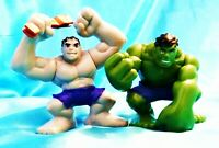 "Set of Two - Hulk and Gray Hulk 3"" 2008 Marvel Super Hero Loose Figure Hasbro"