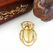 BRASS Egyptian Scarab Beetle Stamping ~ Jewelry Brass Finding (C-405)