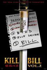 Kill Bill Volume 2 Movie Poster featuring Quentin Taratino size 27x39