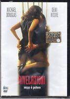 Dvd **RIVELAZIONI ~ SESSO E' POTERE** con Michael Douglas Demi Moore nuovo 1996