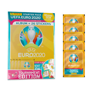 2020 Panini Euro Tournament Edition Mega Starter Pack Album+ 51 Stickers UEFA