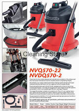 Numatic NVDQ570-2 Twin Motor Dry Industrial Commercial Vacuum Cleaner Car Wash