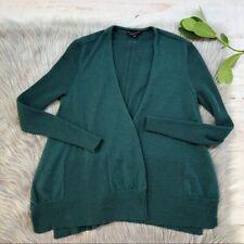 Women Eileen Fisher Merino Wool Open Front Cardigan Small