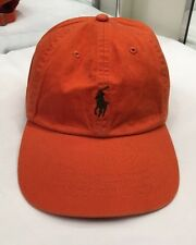 Polo Ralph Lauren Classic Chino Sports Adjustable Cap Rugby Orange NEW $40