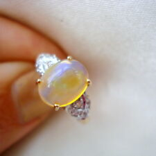 2.24ct Certified Rare Indonesian Opal Gold Ring