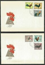 Germany (East) DDR GDR 1979 FDC (2) Poultry Chabo Saxonian Phoenix Crows Head