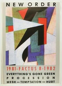1982 New Order Factus 8 Album Release Poster Temptation Everythings Gone Green