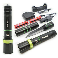 G4 3-in-1 Tactical Flashlight Knife Emergency Lamp Torch Vehicle Outdoor Camping
