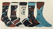 Shark Week Casual Crew Sock 5 Pair Shoe Size 8-12 Discovery
