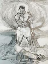 Original Portrait of Muhammed Ali    signed by Artist 11 x 14. In Ink
