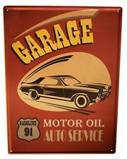 Tin Sign XXL Garage  Workshop Gas Stations Vintage
