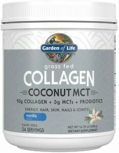 Grass Fed Collagen Coconut MCT by Garden of Life, 24 servings Vanilla
