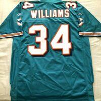 Ricky Williams Miami Dolphins Reebok NFL Equipment triple stitched aqua jersey