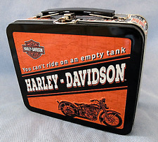 """NEW HARLEY DAVIDSON AUTHENTIC MOTORCYCLE  MINI TIN LUNCH BOX  6 1/2"""" x 5 1/2"""""""