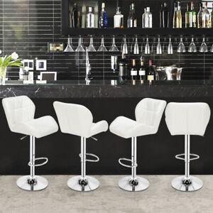 2X Bar Stools & Salon Chair Ajustable Foot Bar Stools 360° Swivel Pub Chairs