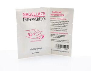 Nagellackentfernertücher mit Aloe Vera und Aceton, Nagellackentfernertuch
