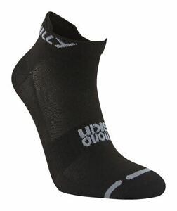 Hilly Lite Socklet Running Socks in Black Lycra Lightweight Antimicrobial