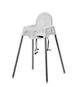 BABY HIGH CHAIR WITH SAFETY STRAPS IKEA ANTILOP BABY HIGH CHAIR WHITE PLASTIC