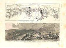 Bulgarie Guerre des Balkans Bataille de Slivnitsa à Niš ou Nich GRAVURE 1885