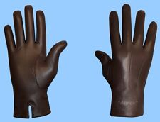 NEW MENS size 10 or 2XL UNLINED GENUINE BROWN LAMBSKIN LEATHER DRESS GLOVES