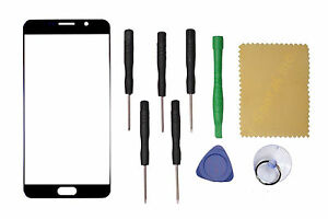 Black Front Screen Glass Lens Repair For Samsung Galaxy Note 5 + Tools