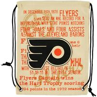 Forever Collectibles Philadelphia Flyers Historic NHL Canvas Drawstring Backpack