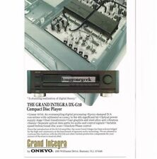 1989 Onkyo Grand Integra DX-G10 CD Player Stereo Hi-Fi Vtg Print Ad