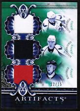 2010-11 Artifacts Tundra Trios Ovechkin Semin Green Caps Jersey #/15 (ref 30688)