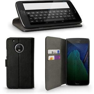 PU Leather Skin Wallet Case for Motorola Moto G5 Plus (5th Gen Plus) Flip Cover