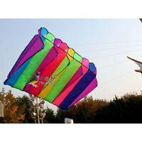 Single line color rainbow power Eight Holes Umbrella NEW kite free shipping