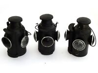Lot of 03 Railroad Lantern Vintage  Antique Indian Rail Lamp Switch 4 Way Signal