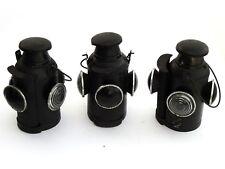 Lot of 03 Railroad Lantern Vintage  Antique Indian Rail Lamp Switch 4 Way Signal