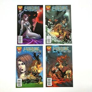 Witchblade Shades of Gray 1 2 3 4 Complete C Cover Variant Set Dynamite Top Cow