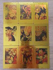Dragon Ball fan - Custom HK Card - Set 9 cartes Gold - PP Card
