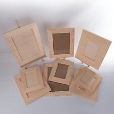 Wooden Photo Picture Frames / Natural Unpainted Pinewood / Wall Mounted Ready