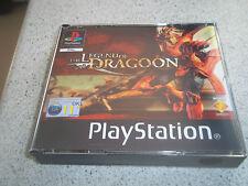 La leyenda de Dragón. caja grande Pal PS1. solo Reemplazo Estuche + incrustaciones. sin juego