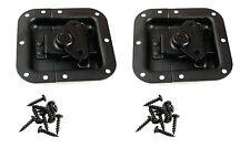 2 Pack Penn-Elcom L905/915K Recessed Butterfly Latch- Black Powder Coat